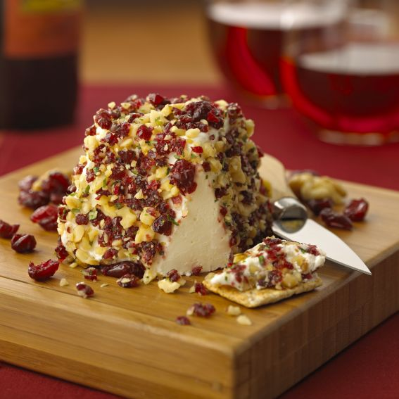 Fresh Goat cheese with Dried Cranberries & Walnuts